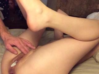 Slut creamped after havng pussy eaten