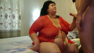 I fuck my old fat mother-in-law in anal.-1
