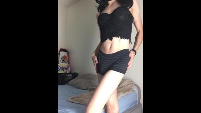 Pts strip - Sexy ts strip tease for my loves, ts princess stephanie enjoying her cock