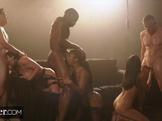 Deeper Angela Emly and Kra Sex Overdose n Epc Gangbang Angela White, Emily Willis, Jason Moodyxxx, Kira Noir, Rob Piper