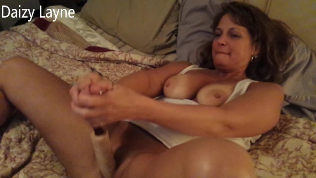 Amateur milf dildo I caught my hot mom fucking her pussy hard with dildo she let me watch