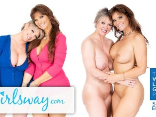 GIRLSWAY Real Life Lesbian MILF Couple Dee & Syren- We Like Girls main image