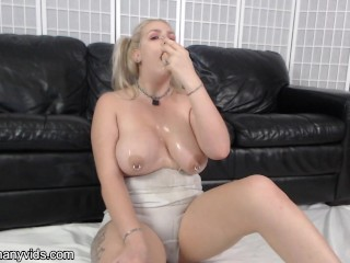 Super messy and brutal throat fucking and deep throat dildo training.