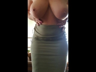 Mature Lady with huge boobs sent her boss this vid hoping to get a pay rise
