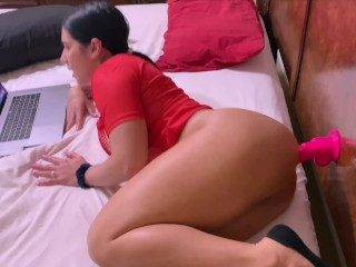 Bg ass Latna gets fucked n the ass after she gets caught wth a dldo