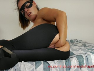 TEEN SELF FISTING IN PUSSY AND ASS HIGH HEEL, GREAT ORGASM REAL 4K