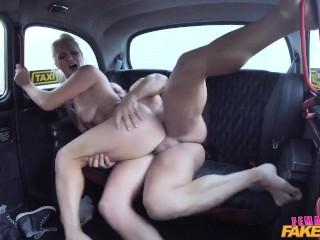 FakeHub Sexy blonde tax drver Kathy Anderson fucks her customer Dorian Del Isla, Kathy Anderson