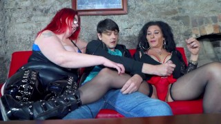 Couple and Tranny milf in the dungeon part 1