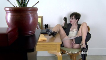 Hidden Camera Reveals Nasty Secretary Revenge - Mrs Mischief voyeur pov