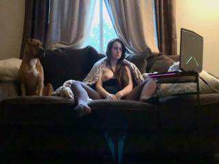 ng on the couch Feat My Needy Ass Dog Basc Masturbaton