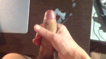 My cum on the table.