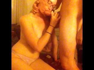 Blowjob and spoon fu tall nerdy tnder grl to the back of her pussy