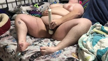 Extended BBW hitachi wand play