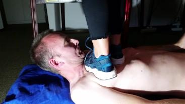 Nike Huarache Trampling and Licking