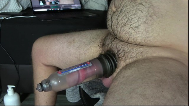 Pump for dicks - Pumping my big thick cock with bathmate hercules x30 while chaturbating