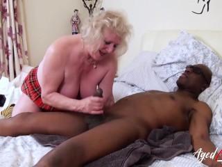 AgedLovE Three Matures Tastes Hardcore Black Cock