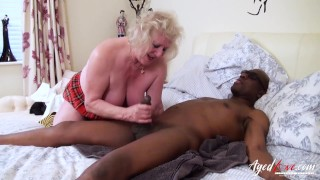 AgedLovE Three Matures Tastes Hardcore Black Cock