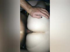 Oops, the condom broke... - loud submissive FTM Trans Guy Gets Creampied