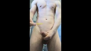 insert catheter in hard cock