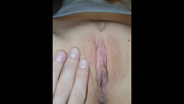 Step dad fingering naughty  stepdaughter young pussy close up video
