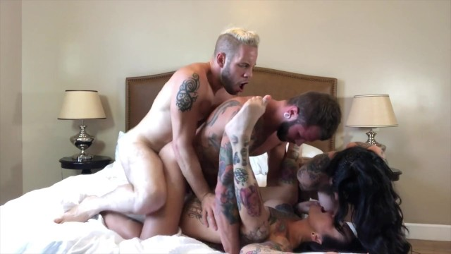 Lee erotic Bisexual foursome with hot tattooed girl, jessie lee johnny hill