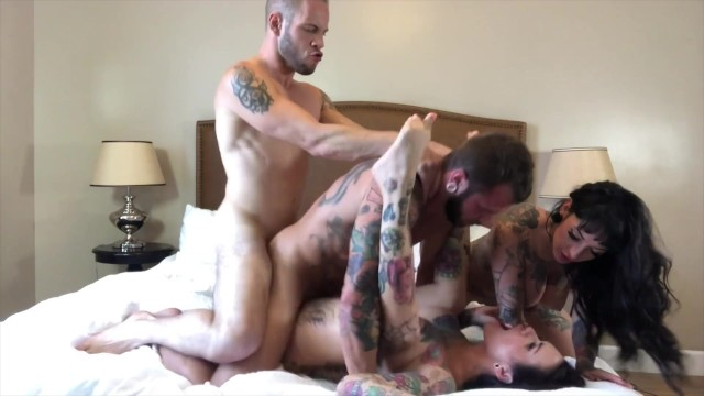 Johnny condom Bisexual foursome with hot tattooed girl, jessie lee johnny hill