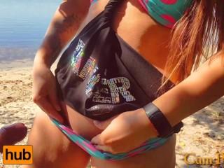 Oops Stranger Agan Cum n My Pantes On The Beach