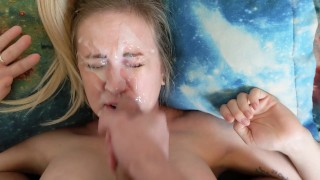 BIGGEST FACIAL ON PORNHUB Real Giant Cum! Crazy Face Fuck Facial Cumshot