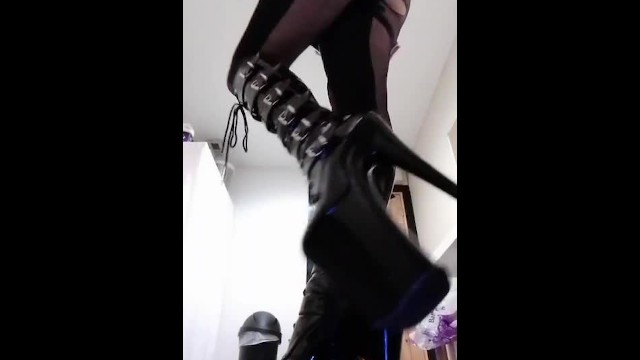 Boot heel sexy stilettos 10 inch stiletto goth boots and my catsuit