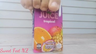 Juice Box Crush with Feet