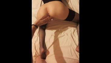 *Cream Pie* Husband eats and fucks his hot wife's ass for the first time.