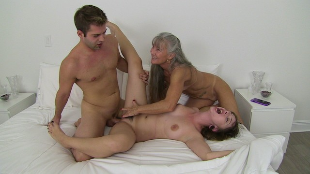 Virgin threesome A virgin is taught sex trailer