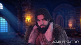 Medieval Leather Master Domination Ft. Hairy Chest Deep Voice Bearded Man