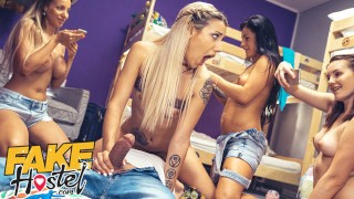 Fake Hostel Young American revenge fucks while girlfriends film