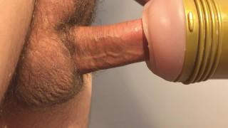 Pulsating/throbbing cock closeup  Audible cum dripping  Ruined
