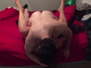 Fucking Horny Milf Inverted on the Bed
