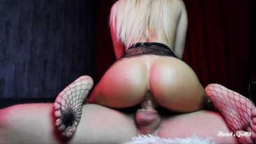 Beautiful Sport Girl gets Hard Fucked in Mouth and Cowgirl + OIL & CREAMPIE