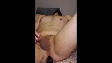 dildoing his ass 8 inches of ebony HUGE CUMSHOT REWARD