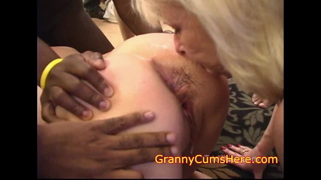 Interracial grannies porn My granny sucks out assholes