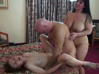 BBW Shares Her Husband Wth A Young Russan Escort n Amateur Threesome