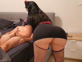 Sexy Young Nurse destroy dck n December wth her Huge Ass
