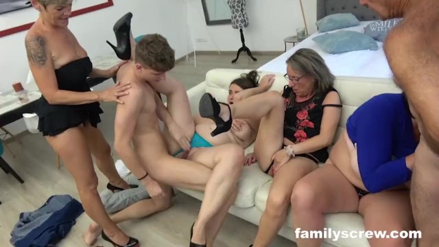 Latino family orgy Grandpa and grandson sunday therapy