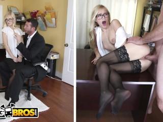 BAOS Sexy Offce Secretary Alex Grey Pays For Her Mstake Alex Grey