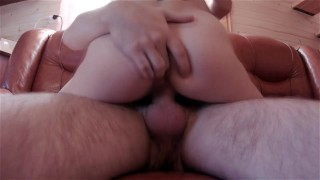 Nerdy Young Wife Lets Her Husband Deepthroat, Ass Fuck & Give Her A Facial