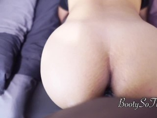 Quickie cum  in her Tight Pawg pussy right before parents visit