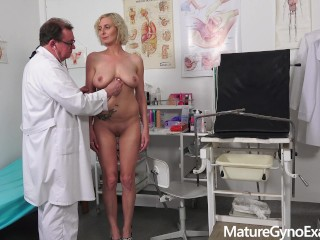 Hardcore gental and anal exam of Kaylea Tocnell Mature Gyno Exam