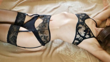 ROMANTIC SEX ON THE FLOOR IN EROTIC LINGERIE - amateur AnnaForia