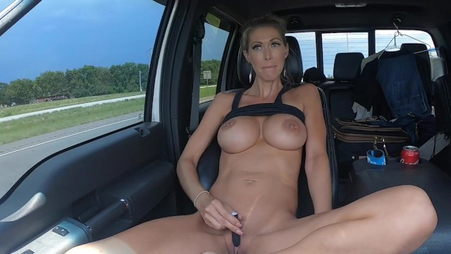 Bisexual truckers Highway trucker flashing