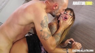 CastingAllaItaliana - Big Tits Italian MILF Rough Anal SEX - AmateurEuro