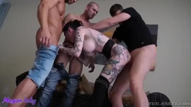 Ass 2 mouth snowballing - Megan inky - snowballing triple penetration - 2